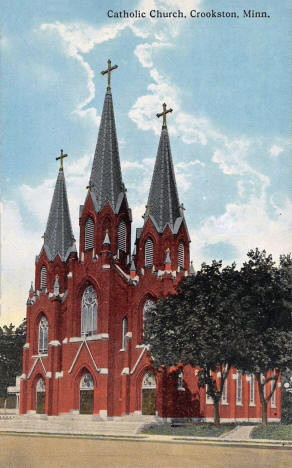 Catholic Church, Crookston Minnesota, 1910's