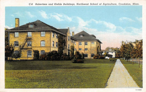 Robertson and Kiehle Buildings, Northwest School of Agriculture, Crookston Minnesota, 1927