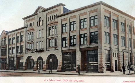 Palace Hotel, Crookston Minnesota, 1906
