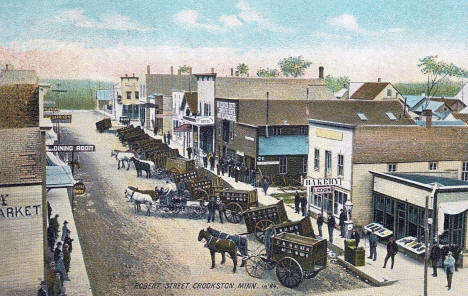 Robert Street, looking east, Crookston Minnesota, 1884