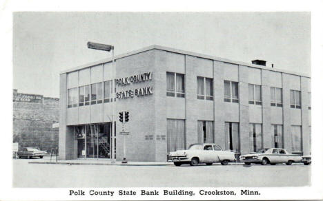 Polk County State Bank Building, Crookston Minnesota, 1960's