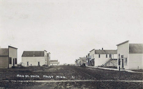 Main Street South, Frost Minnesota, 1917