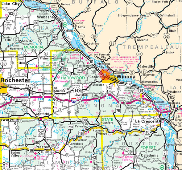 Minnesota State Highway Map of the Goodview Minnesota area