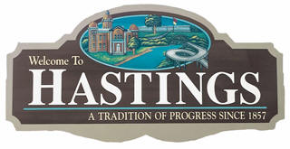 Hastings Minnesota Welcome Sign