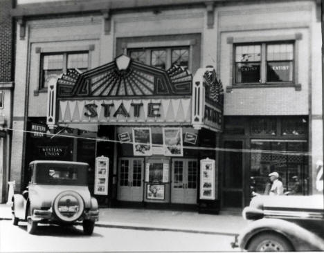 State THeatre on Main Street in Marshall Minnesota, 1938