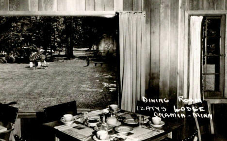 Dining Room, Izaty's Lodge, Onamia Minnesota, 1950's