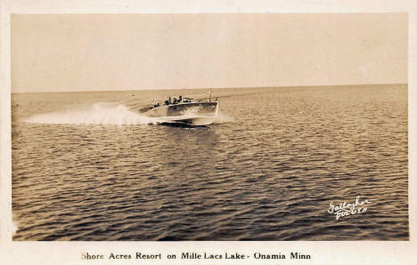 Shore Acres Resort on Mille Lacs Lake, Onamia Minnesota, 1940's