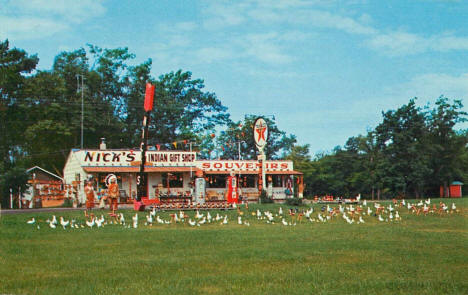 Nick's Indian Gift Shop and Souvenirs, Onamia Minnesota, 1956