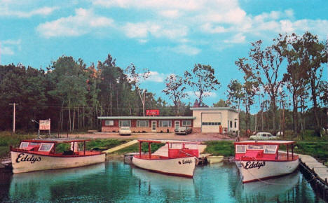 Eddy's Launch Service on Mille Lacs Lake, Onamia Minnesota, 1960's