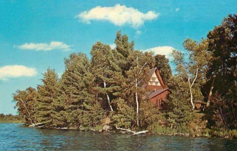 Braun Chapel on Lake Shakopee at American Lutheran Memorial Camp, Onamia Minnesota, 1988