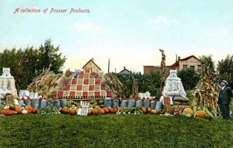 Prosser products exhibit at the Benton County Fair, 1907