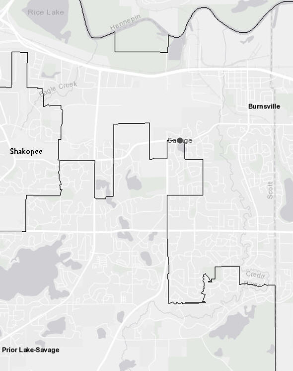 School District Map,  Savage Minnesota