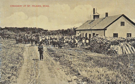 Creamery at St. Hilaire Minnesota, 1910