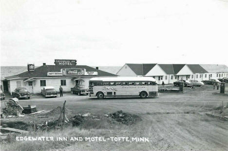 Edgewater Inn and Motel, Tofte Minnesota, 1950's