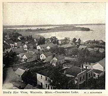 Birds eye view, Waconia Minnesota, 1905