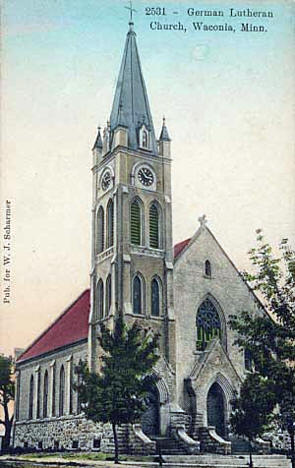 German Lutheran Church, Waconia Minnesota, 1910