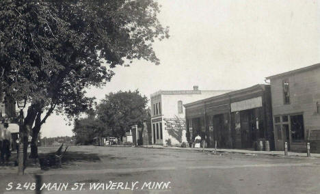 Main Street, Waverly Minnesota, 1910's