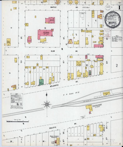 Sanborn Fire Insurance Map, Waverly Minnesota, 1899  [plate 1]