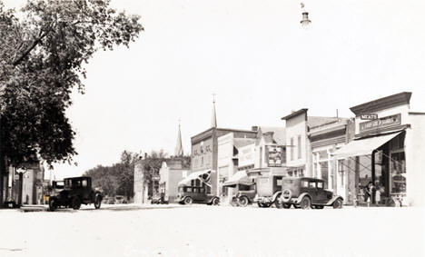 Street scene, Waverly Minnesota, 1940