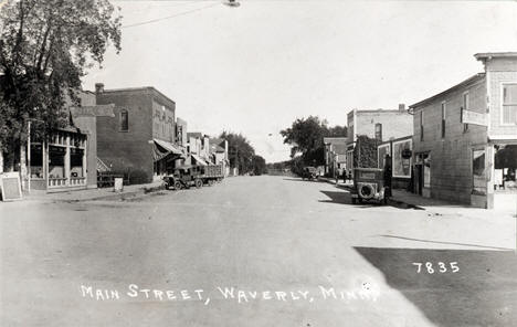 Main Street, Waverly Minnesota, 1929