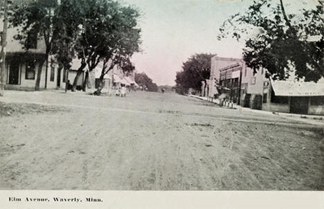 Elm Avenue, Waverly Minnesota, 1914