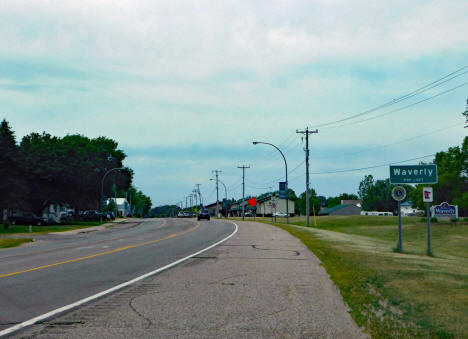 Entering Waverly Minnesota on US Highway 12 from the east, 2020