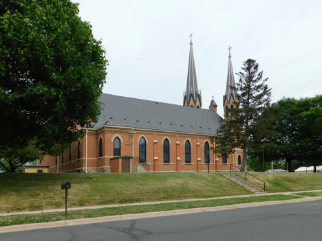 Side view, St. Mary's Catholic Church, Waverly Minnesota