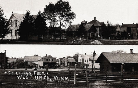 Multiple scenes, West Union Minnesota, 1910's