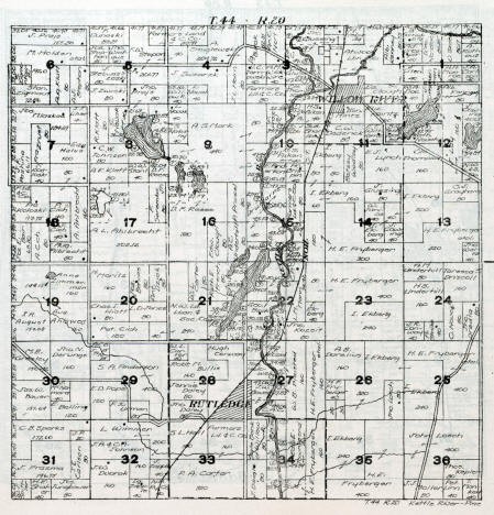 Plat map of Kettle River Township in Pine County Minnesota, 1916