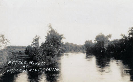 Kettle River at Willow River Minnesota, 1920's