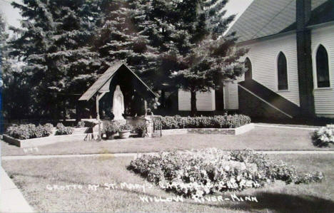 Grotto at St. Mary's Catholic Church, Willow River Minnesota, 1950's