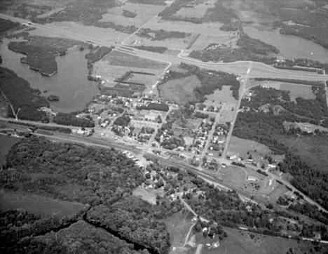 Aerial view, Willow River Minnesota, 1970