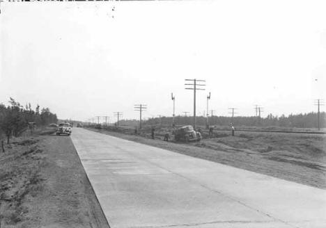 Highway improvements on 61 north of Willow River Minnesota, 1940
